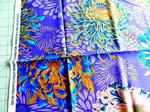 FQ ~ KAFFE Brandon Philip FLOATING MUMS Purple Cotton Fabric Quilt Craft Flower