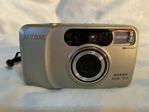 Samsung Maxima Zoom 70GL 35mm Point & Shoot Film Camera, Built In Flash Untested