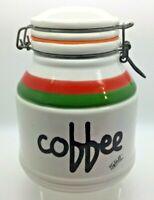 Vintage Mid Century Large Baldelli Italian Coffee Storage Jar Retro Kitchen