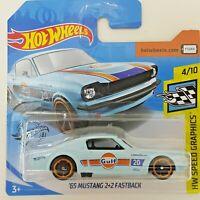 OSKR Hot Wheels 2020-Speed Graphics 4/10-Ford Mustang Fastback 68 Blau OVP 1:64