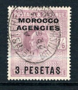 Morocco Agencies KEVII  1907-12  3p. on 2s.6d. Pale Dull Purple SG121 Used