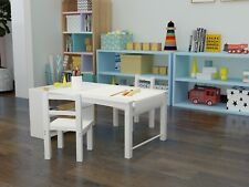 Kids Table and Chair Set with Bookshelf Storage Art Desk Drawing Activity Table