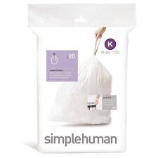 simplehuman Bin Liners, 2 Pack of 20, 38 Litre, Code K