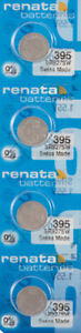4 x Renata 395 Watch Batteries, SR927SW Battery | Shipped from Canada