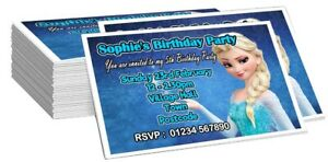 PERSONALISED FROZEN BIRTHDAY PARTY INVITE/INVITES/INVITATION CARDS WITH ENV'S