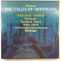 Offenbach : The Tales of Hoffmann Sutherland Domingo Bonynge 3 LP Box Set Vinyl