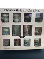 Plymouth Bay Candles 12 Pack Votive Yankee Candle Company Cranberry Vanilla New