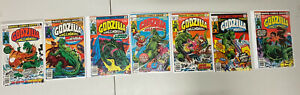 Marvel Comics Godzilla King Of The Monsters Lot Of 7 Issue# 4,5,6,7,8,9,10