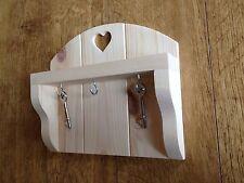 Wood/pine Key Rack With Heart Detail 💕And  Key Hooks🔑🔑