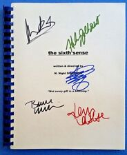 The Sixth Sense MOVIE SCRIPT signed WILLIS, WAHLBERG, COLLETTE, OSMENT, BARTON