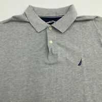 Nautica Polo Shirt Men's Size 2XL XXL Short Sleeve Gray Cotton Casual Golf