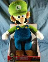 World Of Nintendo Super Mario Official Licensed Product Luigi Jumbo Plush New