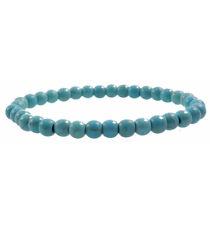 Bracelet Turquoise (Howlite bleue) - boules 6mm