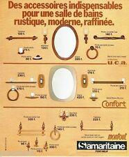 PUBLICITE ADVERTISING 116  1978  accessoires salle de bains Montout Samaritaine