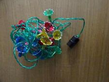 Vintage Retro Colour Flower Blossom Christmas Fairy Lights Untested (13)
