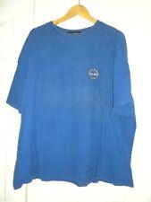 Men's XXL Tee T-shirt EBTEK  Eddie Bauer Bright Blue Reflective Screen Prnt logo