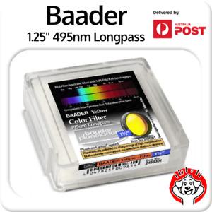 "Baader 1.25"" 495nm Yellow Longpass CA/Purple Fringe Killer + Clarity #2458301"