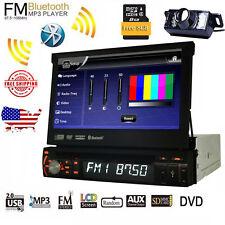 Single 1 Din Car DVD Player Radio GPS Navigation Stereo MP3 MP5 Bluetooth Camera