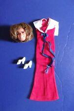 Vintage Mego Toni Tennille Head Original Red Dress Shoes