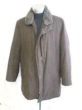 "Mens Coat- Jupiter Supremo, Chest 46"", Brown, Fur Collar, 100% Polyester - 2543"