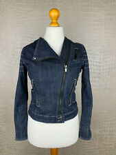 BLEIFREI Damen Gr. M Jeansjacke blau Stretch Denim Blazer Jacket 405