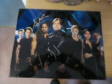 Andromeda Gordan Michael Woolvet and Kevin Sorbo autographs