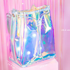 Women Transparent Handbag Laser Bag Shoulder Bag Shopping Travel Purse Satchel