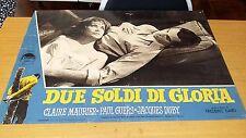 FOTOBUSTA DUE SOLDI DI GLORIA-CLAIRE MAURIER-PAUL GUERS-JACQUES DUBY-1961