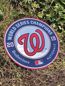Budweiser Washington Nationals MLB Baseball 2019 Champions Beer Bar Mirror