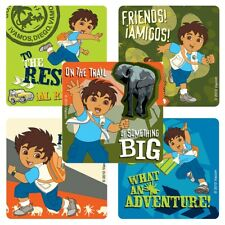 "25 Go Diego Stickers, Assorted, 2.5"" x 2.5"" each, Party Favors"