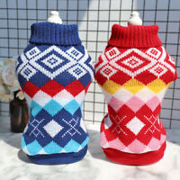 Hundepullover Pullover Pulli Welpen Strickpullover für Kleine Hunde/Katzen S-2XL