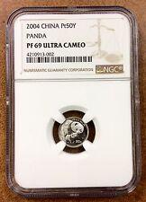 {BJSTAMPS}  2004 China 50 Yuan 1/20 Oz Platinum Proof Panda NGC PF69 ultra cameo