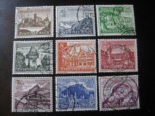THIRD REICH 1939 Mi. #730-738 used Winterhilfswerk stamp set! CV $31.25