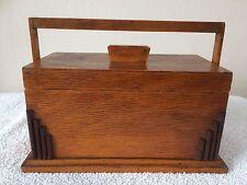 Vintage Art Deco Oak Box / Casket