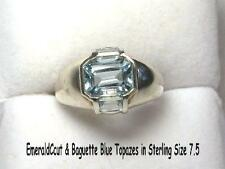 2.00 ctw Blue Topaz Ring Sterling Silver Size 7.5