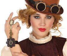 Bracelet Bague Camée STEAMPUNK Accessoire Déguisement Femme Victorien NEUF