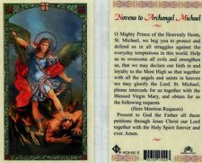 2 Novena Prayer Cards Archangel Michael Prince of the Heavenly Hosts Defend Us