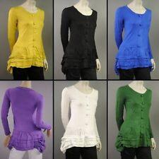 Damenblusen, - tops & -shirts mit U-Ausschnitt aus Baumwolle in Größe 42