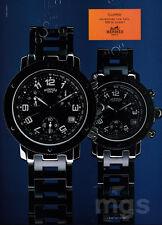 Hermes watch print ad 2000 Clipper - 100 Meters Down
