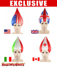 National Team Flag Troll Wig Cheering Matches Unisex (16 Different Countries)