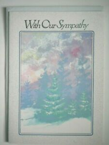 """Lawson Falle ~ """"WITH OUR SYMPATHY GREETING CARD + LIGHT GREY ENVELOPE"""