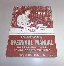 Officina manuale Workshop Manual CHEVROLET CORVETTE/10-60 Series Trucks -1970