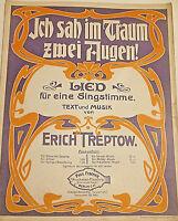 """Erich Treptow """" Ich sah im Traum zwei Augen """""""