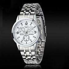 Luxury Waterproof Watch Stainless Steel Women Quartz Wrist Watch Jewelry White