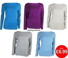 Marks & Spencer Ladies Womens Long Sleeve Top T Shirt 10 12 14 16 18 20 22 WARM