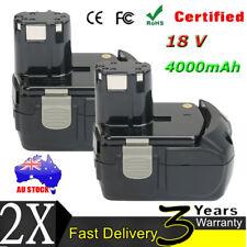 2X 18V 4.0Ah Battery For Hitachi Li-ion EBM1830 BCL1815 Heavy Duty Drill Driver