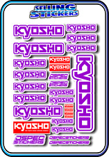 KYOSHO MODEL RC CAR DRONE BOAT BUGGY MINI Z STICKERS DECALS ROBOT R/C PURPLE W