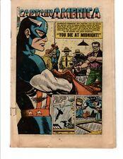 Atlas Comics Captain America #77 (1954) Golden Age Commie Smasher Coverless