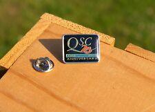 QSC 25 Anniversary 1968 1993 Metal & Enamel Lapel Pin Pinback Audio Products