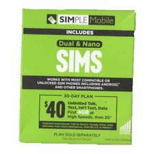 Simple Mobile SIM Card Kit for T-Mobile NEW